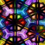 Seamless texture  abstract shiny colorful background 3D illustration Stock Photography