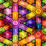 Seamless texture  abstract shiny colorful background 3D illustration Royalty Free Stock Photo
