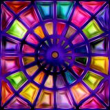 Seamless texture  abstract shiny colorful background 3D illustration Royalty Free Stock Image