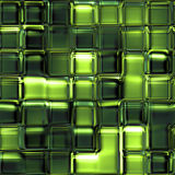 Seamless Texture abstract squares green. Seamless texture of many glossy glass cubes 3d abstract squares Royalty Free Stock Photography