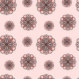 Seamless texture - alternation of circular symmetric patterns. Royalty Free Stock Photo