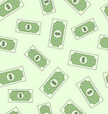 Seamless texture with american money dollars Stock Photo