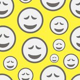 Seamless texture grief. Seamless texture with amusing emotional grief smilies vector illustration