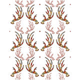 A seamless texture with antlers Stock Photo