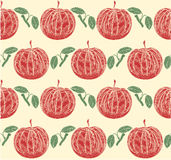 Seamless texture apple motif  vector Royalty Free Stock Image