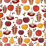 Seamless texture of apples stock illustration