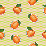 Seamless texture with apricots. Cartoon seamless texture with apricots Stock Photos