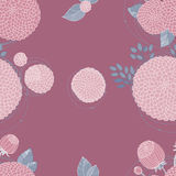 Seamless texture with asters Royalty Free Stock Image