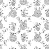 Seamless texture with asters Stock Photo