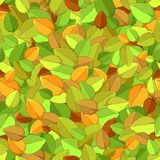 Seamless texture of autumn leaves Royalty Free Stock Images