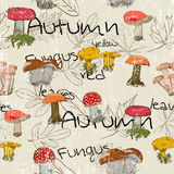 Seamless texture with autumn pattern. Vector illustration EPS8 Royalty Free Stock Photography