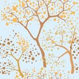 Seamless texture with autumn trees Royalty Free Stock Photos