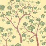 Seamless texture with autumn trees Stock Photos