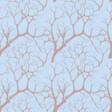 Seamless texture with autumn trees Royalty Free Stock Photography