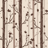 Seamless texture with autumn trees Stock Images