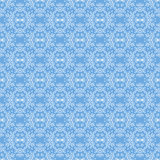 Seamless Texture on Azure. Ornamental Backdrop. Stock Photography