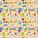 Seamless texture baby Royalty Free Stock Images