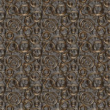 Seamless texture/background made of rings. Seamless texture/background made of golden and silver rings royalty free illustration