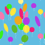Seamless texture with balloons Stock Photos