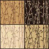 Seamless texture bamboo. Four seamless texture with bamboo stalks royalty free illustration