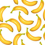 Seamless texture of bananas. On a white background. Vector illustration Royalty Free Stock Photos