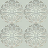 Seamless texture based on sacred geometry. 3d illustration. Seamless texture based on sacred geometry. Decorative round rose window of а church on a white Royalty Free Stock Photography