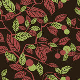 Seamless texture with beautiful leaves ornament. Vector illustration Stock Photo