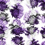 Seamless texture with beautiful peonies. stock illustration