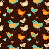 Seamless_texture_birds Fotografia de Stock Royalty Free