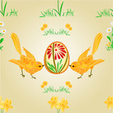 Seamless texture birds and easter eggs vector Stock Images