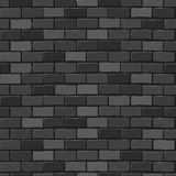 Seamless texture. Black brick white wall. Stock Photos