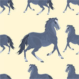Seamless  texture black horse vector Royalty Free Stock Image
