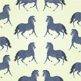 Seamless texture black horses stallions vector royalty free illustration