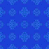 Seamless Texture on Blue. Element for Design. Stock Photography