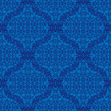 Seamless Texture on Blue. Element for Design Stock Photography