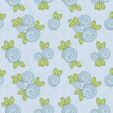 Seamless texture with blue flowers. Pale seamless texture with blue flowers and leaves Royalty Free Stock Photo