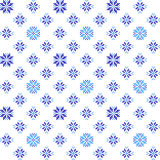 Seamless texture with blue flowers. Seamless texture with blue ornaments. Summer abstract flowers Stock Photography