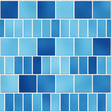 Seamless texture of blue tiles Stock Image