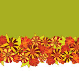 Seamless texture border with bright flowers Stock Photo