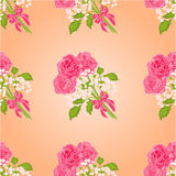 Seamless texture bouquet of three roses vector Stock Photos