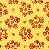 Seamless texture with bouquets of flowers Royalty Free Stock Image