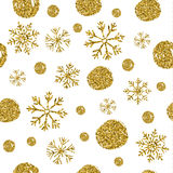 Seamless texture of bright  circles with glitters and sn Royalty Free Stock Photography
