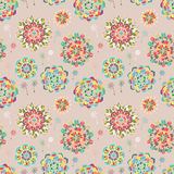 Seamless texture with bright colorful flowers Royalty Free Stock Images