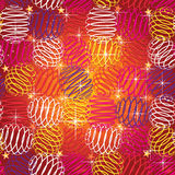 Seamless texture of bright festive Stock Photography