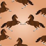 Seamless texture of brown horse jumping vector Royalty Free Stock Photography
