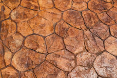 Seamless texture brown stone wall background closeup Stock Photography