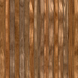 Seamless texture of brown wooden planks possible for fence Royalty Free Stock Photography