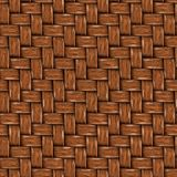 Seamless Texture of Brown Wooden Rattan. Royalty Free Stock Photo