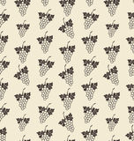 Seamless Texture with Bunch of Grape, Vintage Pattern. Illustration Seamless Texture with Bunch of Grape, Vintage Pattern - Vector Stock Images