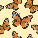 Seamless texture Butterfly -Inachis-io Royalty Free Stock Photography